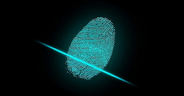 Fingerprint with laser scan